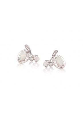 Boucles d'oreilles avec Opale