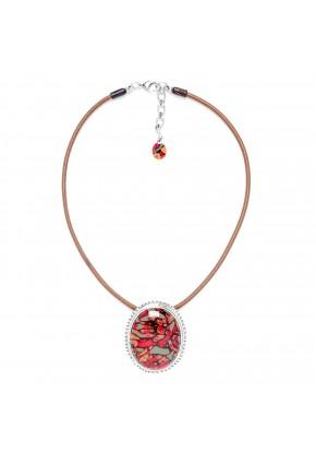 collier pendentif ovale